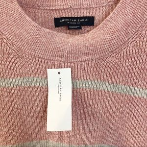American Eagle Outfitters Sweaters - NWT AEO | Jegging Fit Pink Grey Striped Sweater
